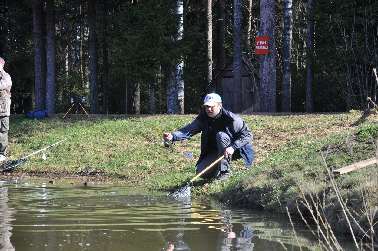 Рыбалка на очаковском пруду